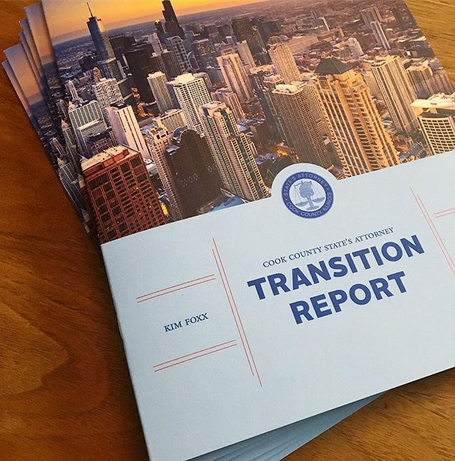 Just back from the printer. Proud to work with the transition team. - . . .