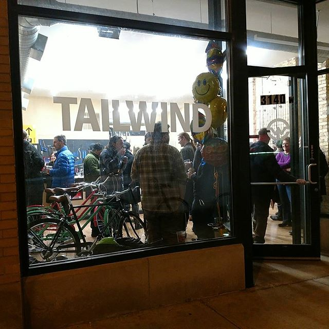 Great party last night! Congrats and welcome to the neighborhood @tailwindcycles. Looking forward to bugging you guys often