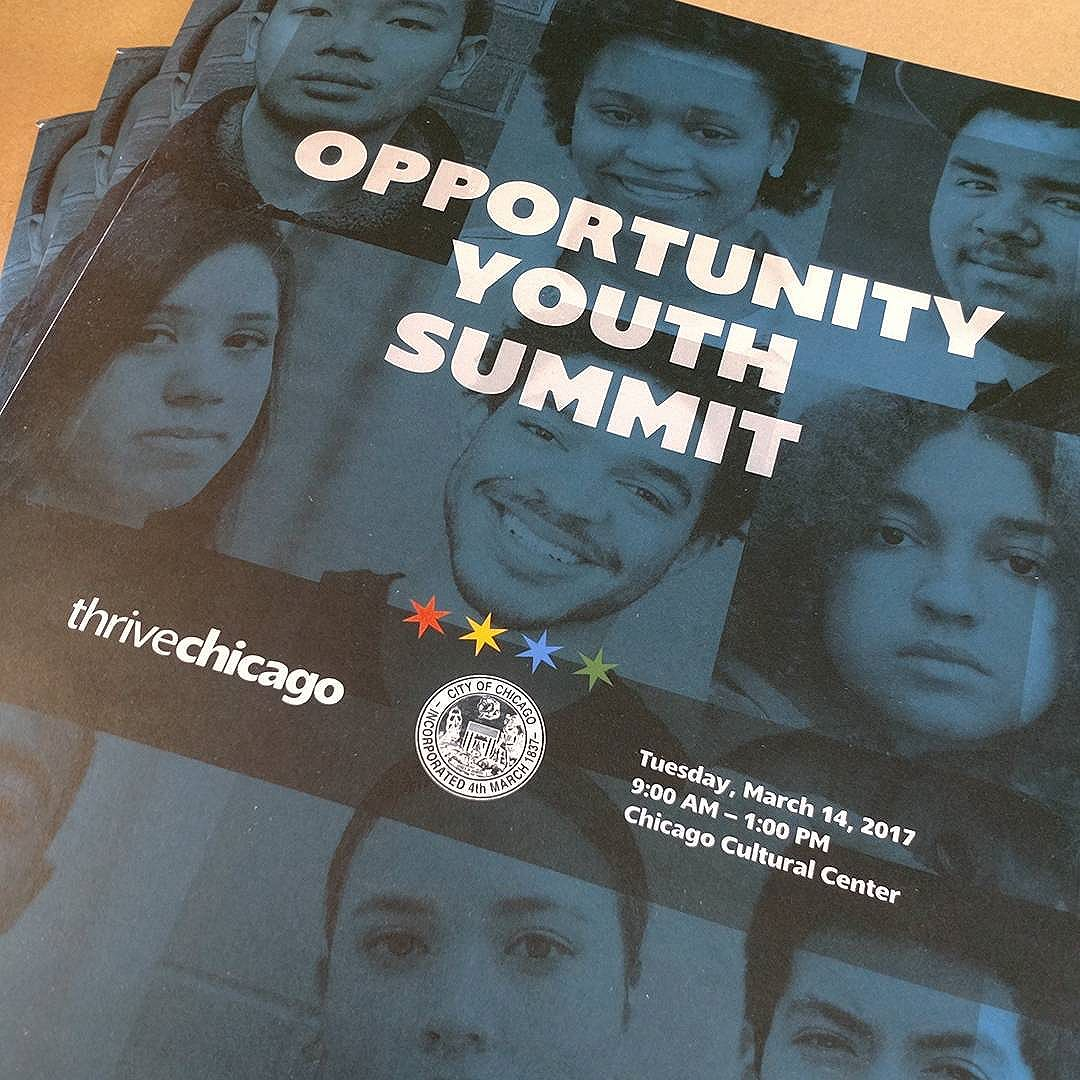 New work for the Opportunity Youth Summit today.  Getting some good press on @wbezchicago! . .