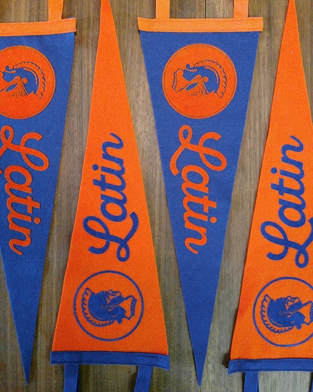 We now do custom pennants  Congrats @latinschoolofchicago on your successful Endowment Campaign . .