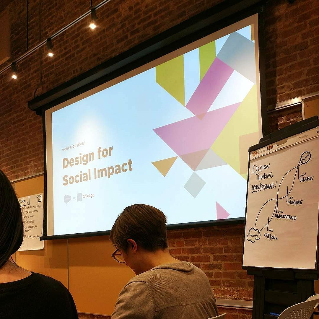 @Regranned from @jondesign -  Great first session tonight with @aigachicago!