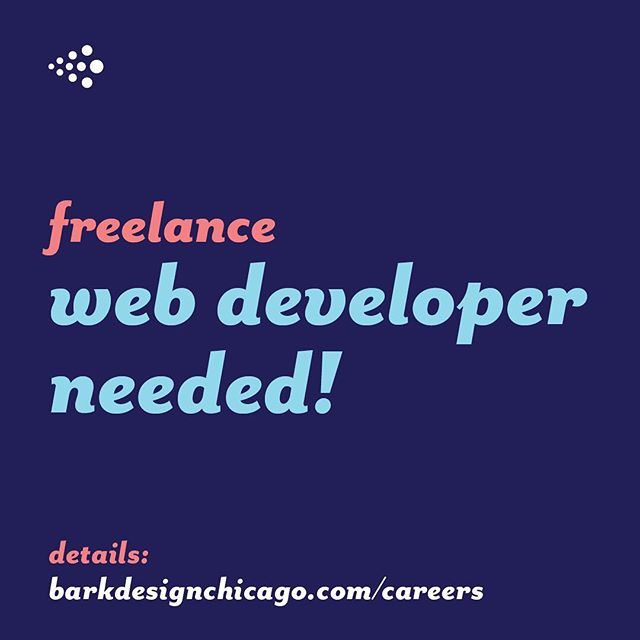 We're looking for a freelance web developer!! Link in bio.
